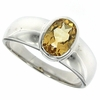 1.21ctw Citrine Ring in Sterling Silver