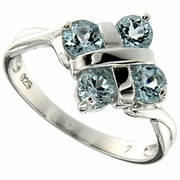 1.21ctw Sky Topaz Ring in Sterling Silver