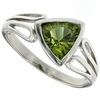 1.23ctw Peridot Ring in Sterling Silver