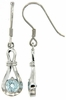 1.23ctw Sky Topaz Earrings in Sterling Silver