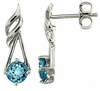 1.23ctw Swiss Blue Topaz Earrings in Sterling Silver