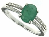 1.24ctw Emerald Ring in Sterling Silver