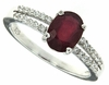 1.24ctw Glass Filled Ruby Ring in Sterling Silver