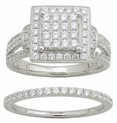 1.25ctw Diamond Bridal Set Rings in 14KT or 10KT
