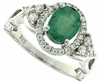 1.25ctw Emerald Ring in Sterling Silver