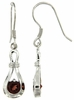 1.25ctw Garnet Earrings in Sterling Silver