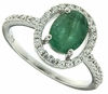 1.28ctw Emerald Ring in Sterling Silver