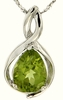 "1.28ctw Peridot Pendant in Sterling Silver with 18"" Chain"