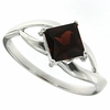 1.29ctw Garnet Ring in Sterling Silver