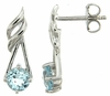 1.29ctw Sky Topaz Earrings in Sterling Silver