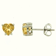 1.30ctw Citrine Stud Earrings in Sterling Silver