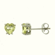 1.30ctw Lemon Quartz Stud Earrings in Sterling Silver