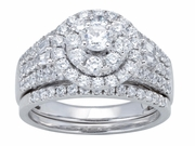 1.50ctw Diamond Bridal Set Rings in 14KT or 10KT