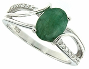 1.33ctw Emerald Ring in Sterling Silver