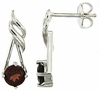 1.33ctw Garnet Earrings in Sterling Silver