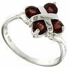 1.34ctw Garnet Ring in Sterling Silver