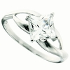1.34ctw White Topaz and Diamond Ring in Sterling Silver