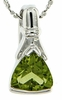 "1.35ctw Peridot Pendant in Sterling Silver with 18"" Chain"