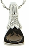 "1.35ctw Smokey Quartz Pendant in Sterling Silver with 18"" Chain"
