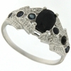 1.36ctw Sapphire and Diamond Ring in Sterling Silver