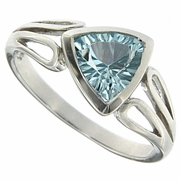 1.36ctw Sky Topaz Ring in Sterling Silver