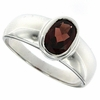 1.38ctw Garnet Ring in Sterling Silver