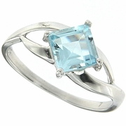 1.38ctw Sky Topaz Ring in Sterling Silver