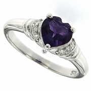 1.40ctw Amethyst Ring in Sterling Silver