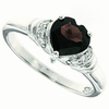 1.40ctw Garnet Ring in Sterling Silver