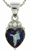 "1.40ctw Mystic Blueish Pendant in Sterling Silver with 18"" Chain"