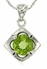 "1.40ctw Peridot Pendant in Sterling Silver with 18"" Chain"