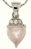 "1.40ctw Rose Quartz Pendant in Sterling Silver with 18"" Chain"