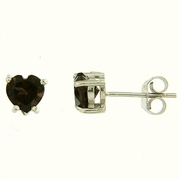1.40ctw Smokey Quartz Stud Earrings in Sterling Silver