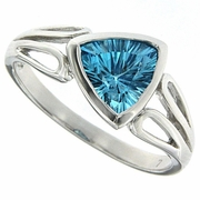 1.40ctw Swiss Blue Topaz Ring in Sterling Silver