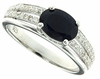 1.42ctw Diffusion Sapphire Ring in Sterling Silver
