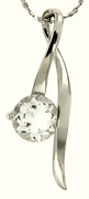 "1.44ctw White Topaz Pendant in Sterling Silver with 18""Chain"