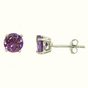1.50ctw AmethystStud  Earrings in Sterling Silver