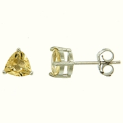 1.50ctw Citrine Stud Earrings in Sterling Silver