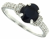 1.50ctw Diffusion Sapphire Ring in Sterling Silver