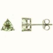 1.50ctw Green Amethyst Stud Earrings in Sterling Silver