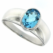 1.50ctw Swiss Blue Topaz Ring in Sterling Silver