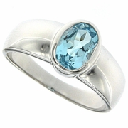1.53ctw Sky Topaz Ring in Sterling Silver