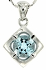 "1.56ctw Sky Topaz Pendant in Sterling Silver with 18"" Chain"