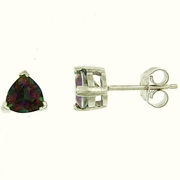 1.60ctw Mystic Stud Earrings in Sterling Silver
