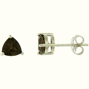 1.60ctw Smokey Quartz Stud Earrings in Sterling Silver