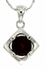"1.64ctw Garnet Pendant in Sterling Silver with 18"" Chain"