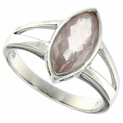 1.64ctw Rose Quartz Ring in Sterling Silver