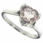 1.66ctw Rose Quartz Ring in Sterling Silver