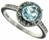 1.66ctw Sky Topaz and White Sapphire Ring in Sterling Silver