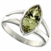 1.69ctw Lemon Quartz Ring in Sterling Silver